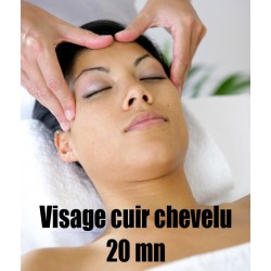 Massage Visage cuir chevelu - 20 mn