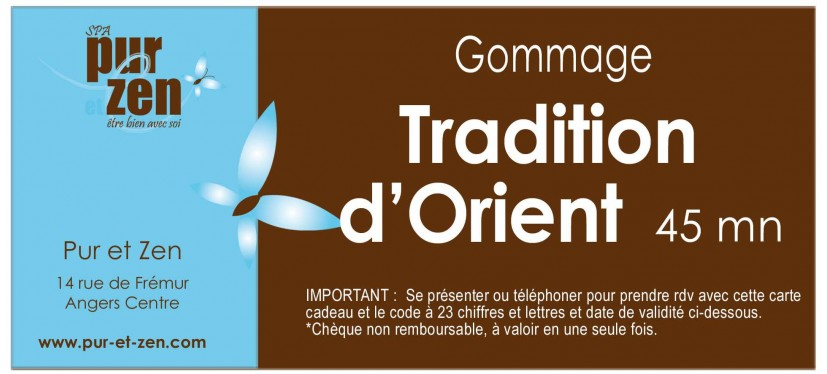 Gommage Tradition d'Orient - 45 mn