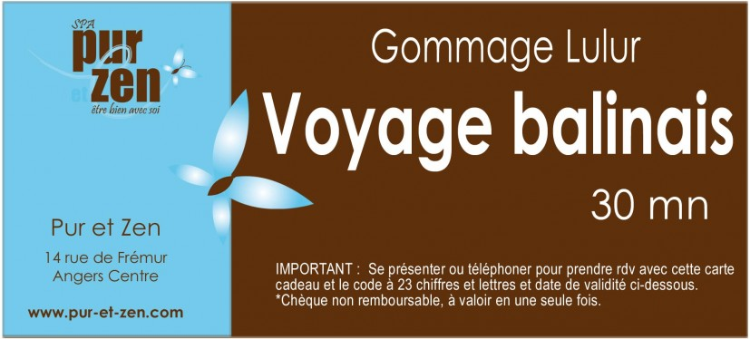 Gommage Lulur voyage balinais - 30 mn